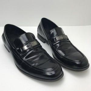 Mens Dress Shoes Calvin Klein Size 11 Black Buckle
